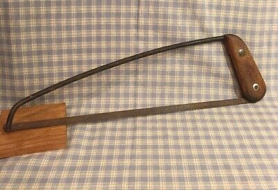 "Antique Wood Handle Rare 16"" Blade Hacksaw Late 1800's Early 1900's Rare"