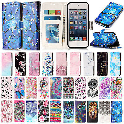 Lovely Leather Magnetic Wallet Cards Case Stand Cover For iPod Touch 5th/6th Gen