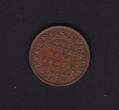 India One Quarter Anna Coin 1936