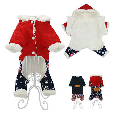 Winter Dog Clothes Hoodie Jumpsuit Puppy Clothes Coat Outfits Doggie Chihuahua