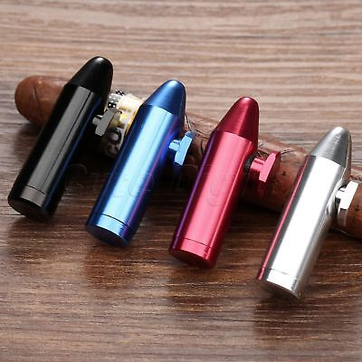 Portable Mini Aluminum Snuff Dispenser Snorter Powder Snuffer Bullet Rocket Type