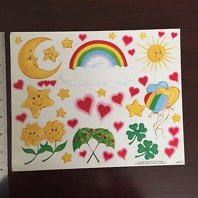 Vintage Sticker Sheet - Care Bear Trademarks and Characters-American Greetings
