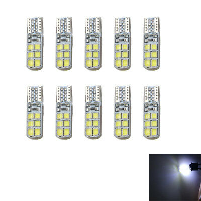10Pcs White T10 2835 LED Canbus Super Bright Car Width Lights Lamps Bulbs