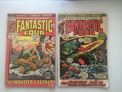 FANTASTIC FOUR..MARVEL...LOT OF 14 COMICS...20 Cents #125 to #145...SEE LIST