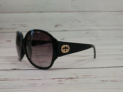 f3046476440 New Gucci GG3623 NKS D28 Oversized Shiny Black Frame Crystals Gradient  Sunglasse