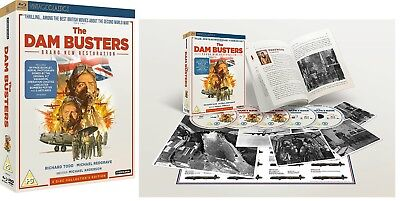 THE DAM BUSTERS (1955 - 2018 Remastered) 2 BLU-RAY + 3 R2 DVD COLLECTORS EDITION