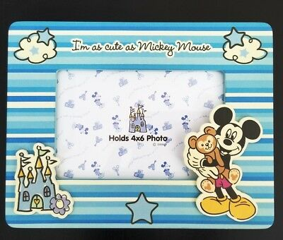 DISNEY PARKS AUTHENTIC Baby Boy Mickey Mouse Photo Frame - Holds 4x6 ...