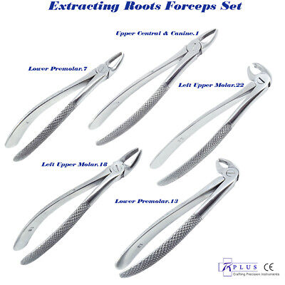 Extracting Roots Forceps left upper molar fig.18 Upper Central & canine fig.1 CE