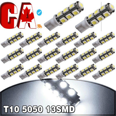 20X Super Bright White T10 13SMD LED Interior Dome License Plate Light Bulbs