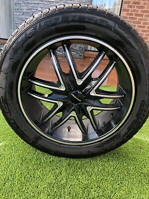 KMC 20 Inch Wheels And contin Tyres Package To Suit toyota Prado and landcruUsed