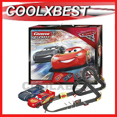 NEW CARRERA GO DISNEY PIXAR CARS 3 FAST not LAST 1/43 SLOT CAR SET 62416