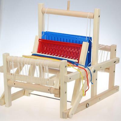 DIY Craft Kids Toys Knitting Weaving Loom Wooden Traditional Table Educational