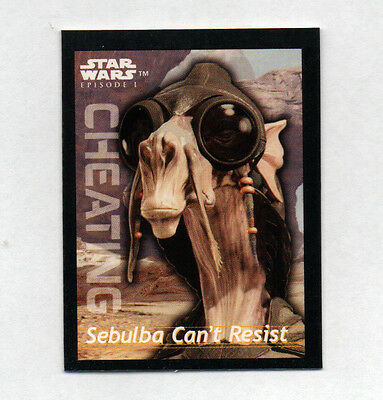 1999 Star Wars Episode 1 Card Sebulba Can't Resist Lays Chips Promotion Vintage