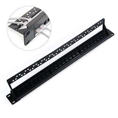 24 Ports Cat6 Unshielded Distribution Frame Wallmount Patch Panel Ports Cable