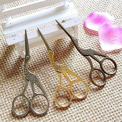 New Crane Shape Gold Tailor Sewing Embroidery Stainless Steel Scissors DIY Tools