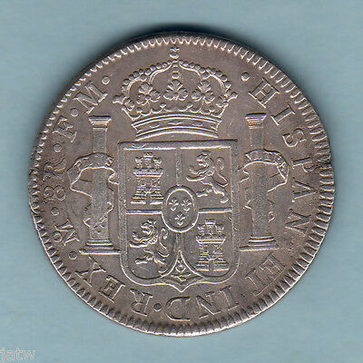 Mexico. 1795-MF 8 Reales.. aEF-EF  - Trace Lustre