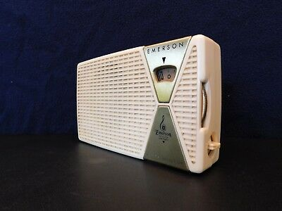 VINTAGE 1950s OLD HANDWIRED EMERSON ATOMIC JET AGE ANTIQUE TRANSISTOR RADIO