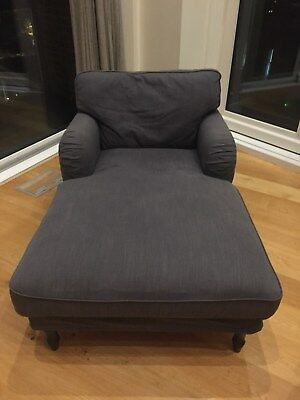 STOCKSUND CHAISE LONGUE dark grey ikea - £250.00 | PicClick UK on chaise recliner chair, chaise sofa sleeper, chaise furniture,