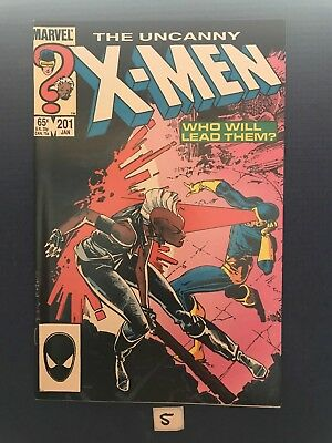 Uncanny X-Men #201! 1st Baby CABLE! Nathan Summers! Marvel Comics 1986! SEE PICS