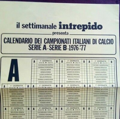 Italian League wall Schedule inserted inside INTREPIDO MAGAZINE SEP. 28 1976**EM