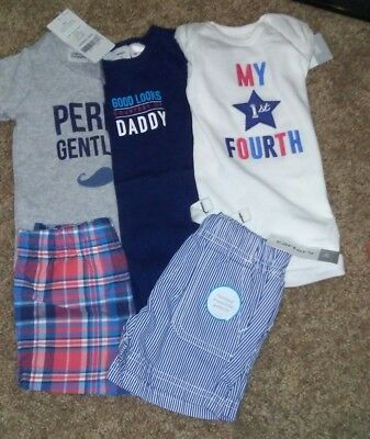 Carters 3 month Baby Boy Lot 9 BNWT