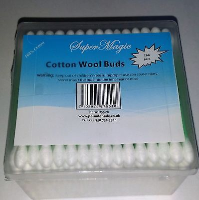 Wholesale Job Lot 240 x Cotton wool buds 200 pack Pound line clearance stock
