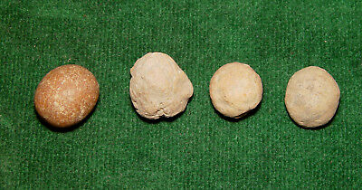 Native American Indian Game Stone Lot of 4 -