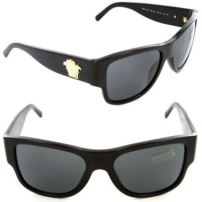 f2bfdb57d48 Authentic VERSACE Sunglasses VE 4275 GB1 87 58mm Black-Gold   Grey Lens