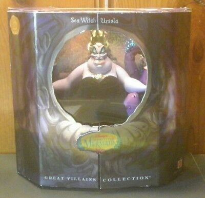 Disney The Little Mermaid Sea Witch Ursula Doll Great Villains Collection Mattel