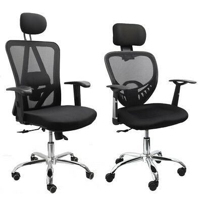 Ergonomic Executive Office Computer Desk Chair Mesh Seat High Back Recline UK