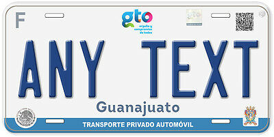 Guanajuato Mexico Any Text Number Novelty Auto Car License Plate C04