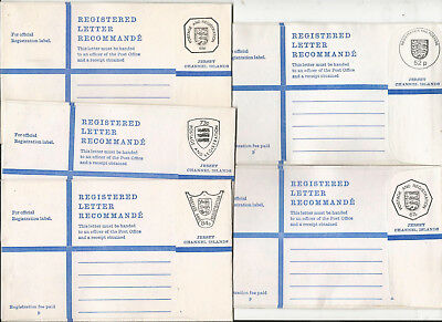 Gb Jersey 5 Registered Letter Size G Covers Unused