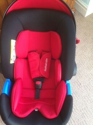 Mothercare Journey Travel System 0 Infant Car Seat In Red Black