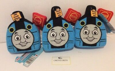 New Pack of 3 Thomas The Tank Wash Pal Fabric Kids Bath Sponge