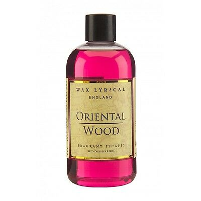 Wax Lyrical Fragrant Escapes Oriental Wood 250ml Reed Diffuser Refill Oil NEW