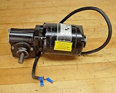 "BODINE ELECTRIC NPM-13RF  130v GEAR MOTOR, 1/18hp 20:1 RATIO  5/8"" Shaft-DC"