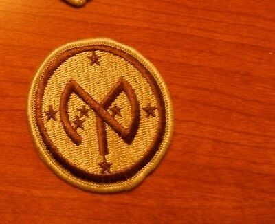 Army Patch,ssi, Desert Tan, Dcu. 27Th Infantry Division