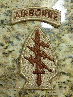 Army Patch,ssi, 1St Special Forces Regiment,worn By All S.f.groups Desert