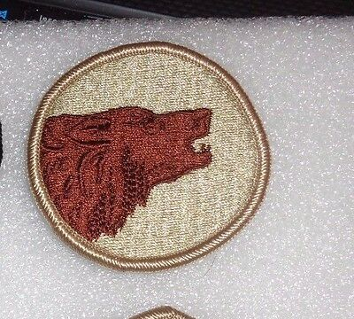 ARMY PATCH 104TH INFANTRY DIVISION, REVERSE COMBAT SIDE, DESERT,DCU,tan border