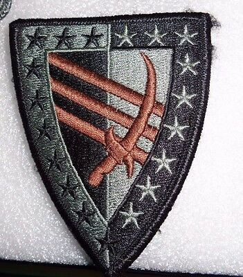 Army Patch,ssi, 38Th Sustainment Brigade, Acu, With Hook Loop Fastener