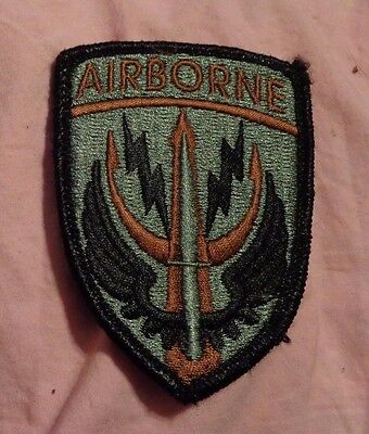 Army Patch, Special Operations Command-Central,black Bdr,acu Sage Green W/velcr