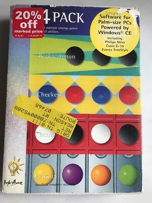 Vintage: 4 PACK Software: Backgammon, Checkers, Theole, Enigma:  Windows CE