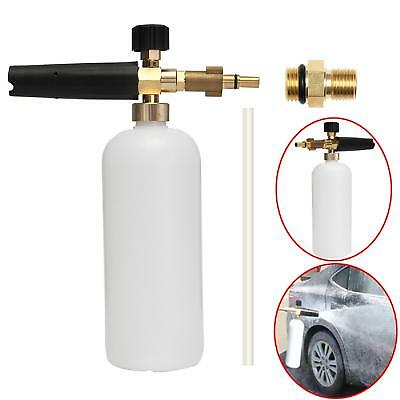 Snow Foam Pressure Washer Jet Car Wash Soap Spray Cannon Bottle Adjustable Lance