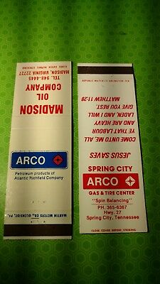 vintage Arco gas station matchbook Sinclair Richfield and Atlantic