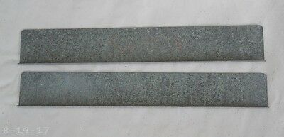 """Pair Antique Reproduction Stacking Barrister Bookcase Door Track 6-3/4"""""""
