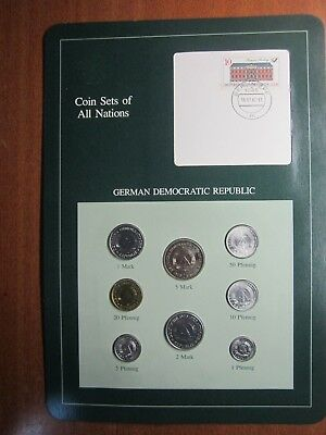 Coin Sets of All Nations German Democratic Republic 8 BU Coins 1979 - 1981