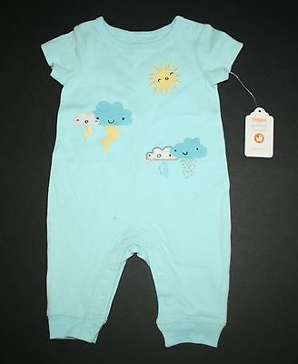 New Gymboree Stormy Cloud Romper Newborn 0-3m 3-6m 6-12m Newborn Essential