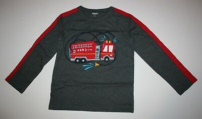New Gymboree Boys Gray Fire Truck Hose Graphic Tee Top 2T 4T 5T NWT Alpine Road