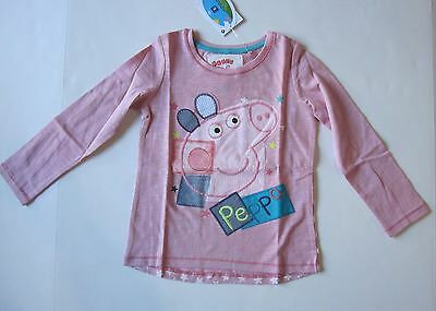 New NEXT UK Boutique Peppa Pig Applique Top 4T 5T 110cm NWT Star Print Girls Tee
