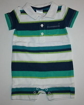 New Gymboree Striped Polo Style One Piece Romper Size 0-3m NWT Tiny Paradise